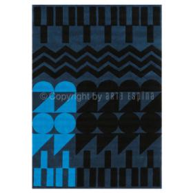 tapis ethno pop arte espina bleu tufté main