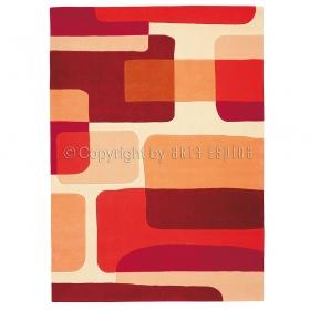 tapis de arte espina rouge pop art