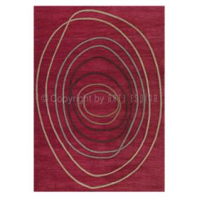 tapis rouge tivoli arte espina tufté main