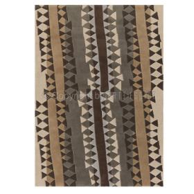 tapis topan beige et gris arte espina tufté main