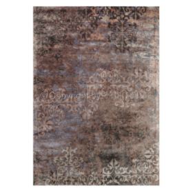 tapis arte espina luxury marron en viscose
