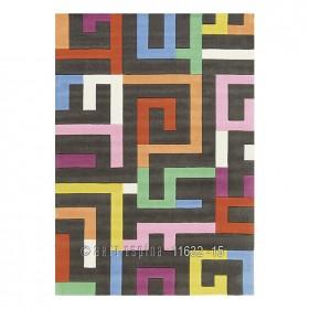 tapis flamingo road gris multicolore arte espina