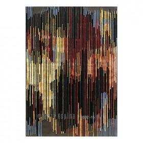tapis laine mikado orange arte espina tufté main