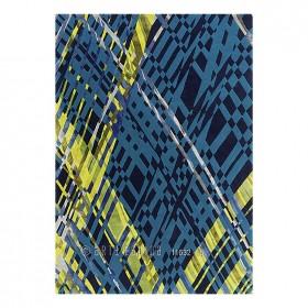 tapis en laine bleu criss cross arte espina