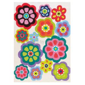 tapis patchwork multicolore motif fleurs arte espina