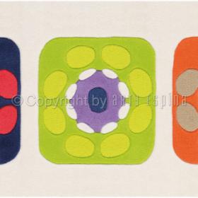 tapis patchwork multicolore arte espina tufté main