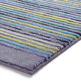 tapis de bain esprit home cool stripes gris