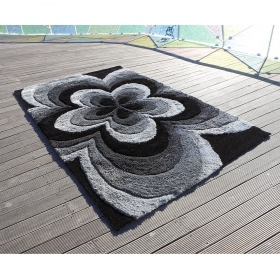 tapis 3d rose gris carving