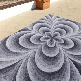 tapis indy gris carving