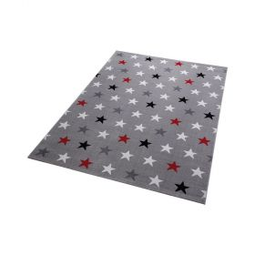 tapis wecon moderne gris starry sky