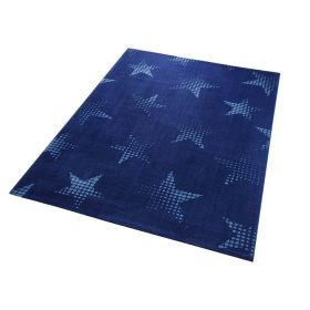 tapis bleu moderne star dust wecon