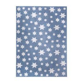 tapis wecon jeans star moderne bleu