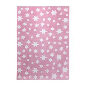 tapis wecon rose jeans star moderne