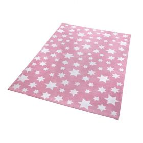 tapis moderne jeans star rose wecon