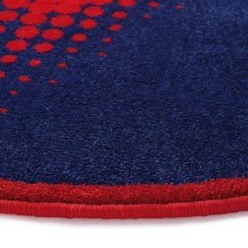 tapis rond walk of fame cosmic glamour rouge - wecon