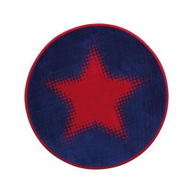 tapis rond walk of fame rouge cosmic glamour wecon