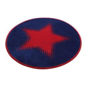 tapis walk of fame rond rouge wecon cosmic glamour