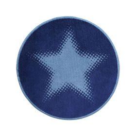 tapis rond cosmic glamour walk of fame bleu - wecon