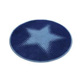 tapis wecon rond walk of fame bleu cosmic glamour