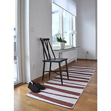 tapis de couloir are sofie sjostrom design rayé choco et blanc
