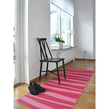 tapis de couloir sofie sjostrom design are zébré rose