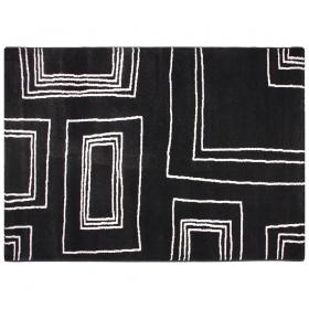 tapis moderne arizona noir et blanc