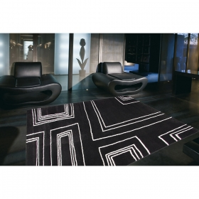 tapis arizona moderne noir et blanc