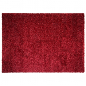 tapis shaggy fait main brooklyn rouge