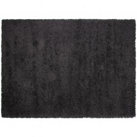 tapis shaggy noir california