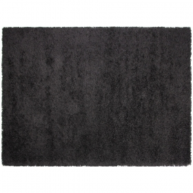 tapis california shaggy noir