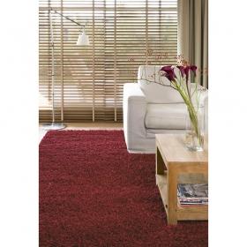 tapis shaggy california rouge