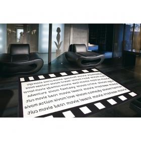 tapis cinema noir et blanc