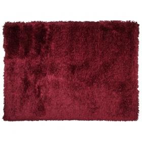 tapis à poils longs rouge lea