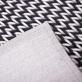 tapis en laine loane noir et blanc