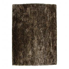 tapis shaggy tufté main wild chocolat