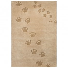 tapis enfant art for kids empreintes beige