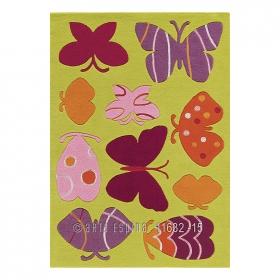 tapis enfant kids papillons arte espina