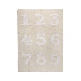 tapis enfant numeros beige lorena canals