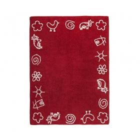 tapis enfant granja rouge lorena canals