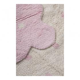 tapis enfant réversible galleta beige et rose lorena canals