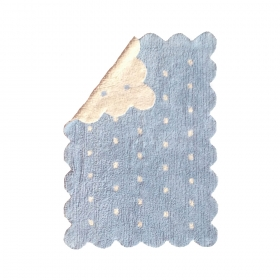 tapis enfant galleta réversible beige bleu lorena canals
