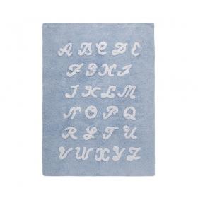 tapis enfant abc bleu lorena canals