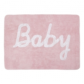 tapis enfant baby petit point rose lorena canals