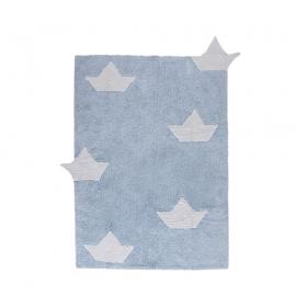 tapis enfant barquitos bleu lorena canals