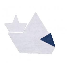 tapis enfant barquito réversible blanc et bleu lorena canals