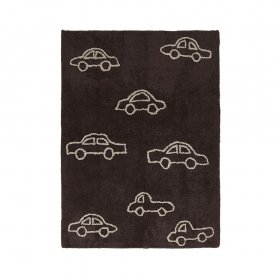 tapis enfant coches marron lorena canals