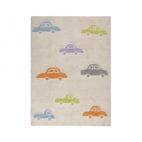 tapis enfant coches multicolore lorena canals