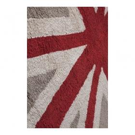 tapis enfant flag england marron et rouge lorena canals