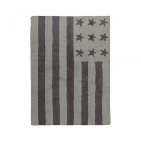 tapis enfant flag american light gris lorena canals