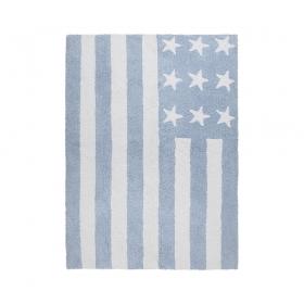 tapis enfant flag american baby bleu lorena canals